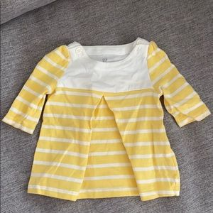 Baby Gap yellow and cream striped dress